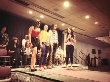 one of our stylists with her models